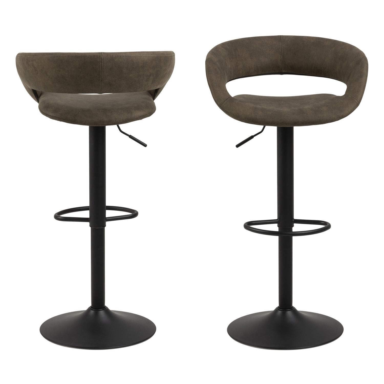 Leonora B spisebordsstol - cappucino kunstlæder/sølv krom